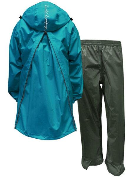 即日 リュックを背負ったまま着用できる トオケミ メンズバックパッカー仕様軽量・透湿レインスーツアリアBP(#7890-B