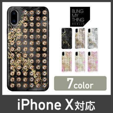 iPhoneXs iPhoneX ケース スワロフスキー 大理石 マーブル 柄 キラキラ ラインストーン 薄型 スリム カバー ストラップ ホール 付 大人かわいい Swarovski デザイン Qi ワイヤレス 充電 対応 Apple iPhoneXs iPhoneX アイフォンXs アイフォンX Bling My Thing Extravaganza