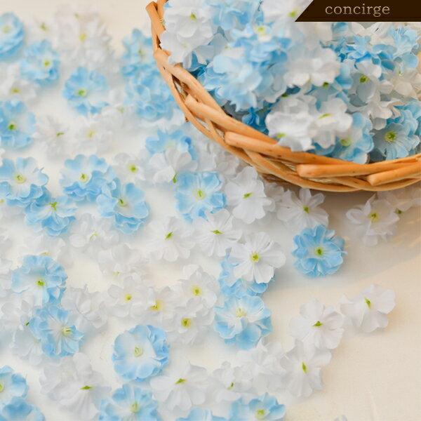 フラワーシャワー(ブルー&ホワイト) 演出グッズ 演出アイテム ブライダル 結婚式 洋 ウェディング ウエディング