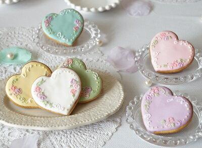 カラーミーハート(SH001) アイシングクッキー(10ヶセット)【名入れ対応】プチギフト お菓子 クッキー アイシング クッキー