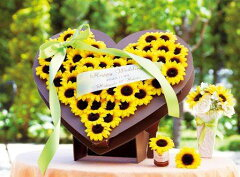 太陽のような笑顔と輝くひまわりがウェディングシーンを演出!ひまわりガーデン53個セット【楽...