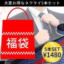 福袋 2019 ネクタイ 5本セット 洗える レギュラー タ...