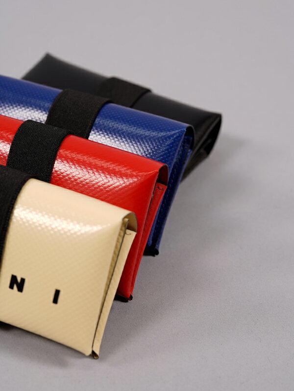 MARNIマルニ/PVCウォレット/オリガミデザイン財布(ブラック)正規取扱店