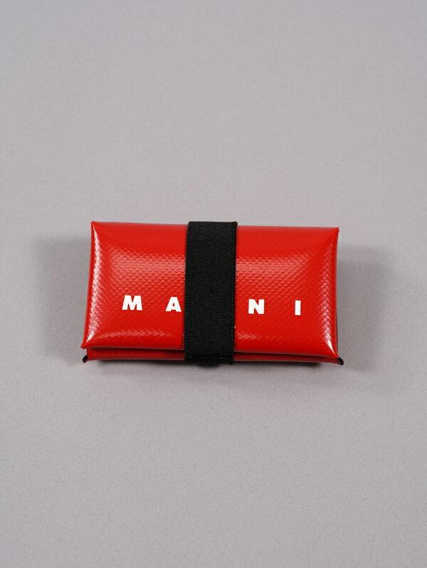 MARNIマルニ/PVCウォレット/オリガミデザイン財布(レッド)21春夏正規取扱店