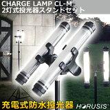 HORUSISCHARGELAMPCL-M5500K2灯式投光器スタンドセット