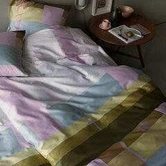 HAY(ヘイ) / Bed linen(ベッドリネン) シングルサイズ 布団カバー&ピローケースセット Colour Block グリーン 北欧 デンマークブランド