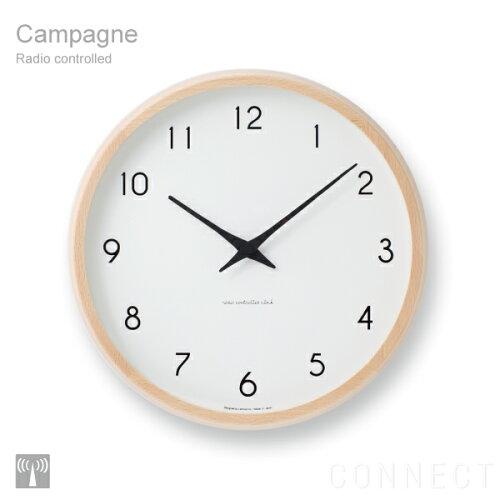 電波時計 / LEMNOS ( レムノス ) 掛け時計 /Campagne(カンパーニュ) PC10-24W 壁掛け 掛時計 【送...