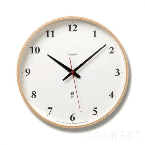 電波時計 / LEMNOS ( レムノス ) / Plywood clock ( プライウッド クロック )ナチュラル L(φ305mm...