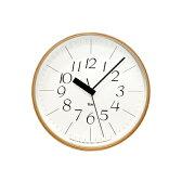 LEMNOS ( レムノス ) / Riki clock ( リキクロック)電波時計 細字 M (φ254mm) 渡辺カ デザイン 時計 壁掛け 掛け時計 掛時計 【送料無料】