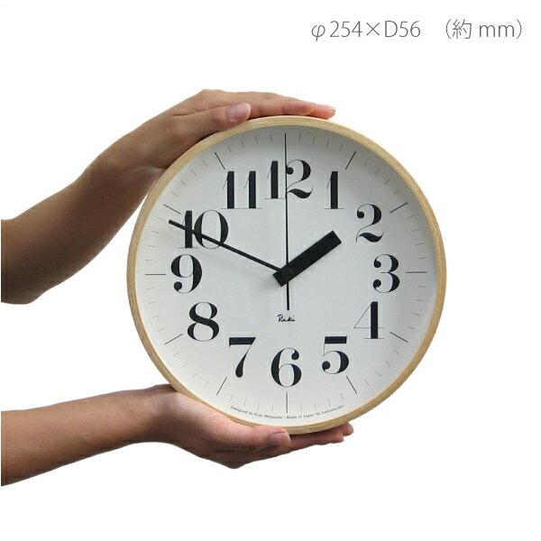 掛け時計 電波時計 LEMNOS(レムノス) / Riki clock(リキクロック)太字 M(φ254mm)