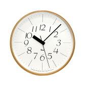 電波時計 / LEMNOS ( レムノス ) / Riki clock ( リキクロック) 細字 L (φ305mm)WR08-26渡辺カ デザイン 時計 壁掛け 掛け時計 掛時計 【送料無料】