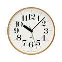 LEMNOS ( レムノス ) / Riki clock ( リキクロック)電波時計 太字 L (φ305mm)渡辺カ デザイン 時計 壁掛け 掛け時計 掛時計 【送料無料】