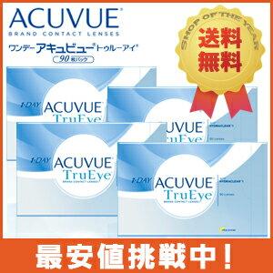◆◆ ワンデーアキュビュー トゥルーアイ 90枚パック 4箱 (両目6カ月分/1箱90枚入)...