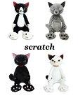 【Scratchスクラッチ】米田民穂/黒猫ぬいぐるみマスコット2種