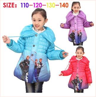 安娜雪女王風下兒童外套冬季女孩外套溫暖長袖生日禮物埃爾莎冷凍/艾爾莎 /Anna 孩子女孩,冬季夾克