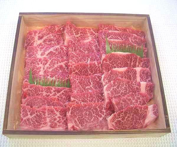 【木箱入りギフト】甲州ワインビーフ・【上】焼肉用カルビ(1kg)