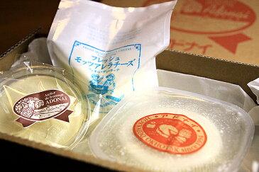 【送料1,296円、北陸・中部以西は1,430円、沖縄2,380円】手作りチーズ工房・アドナイフレッシュチーズセット