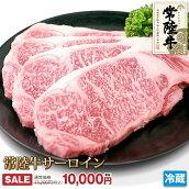 常陸牛サーロインステーキ4枚セット(計1kg)