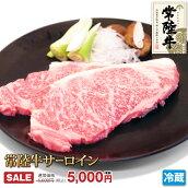 お歳暮・お年始・プレゼントに。常陸牛[霜降]サーロインステーキ2枚セット(計500g)