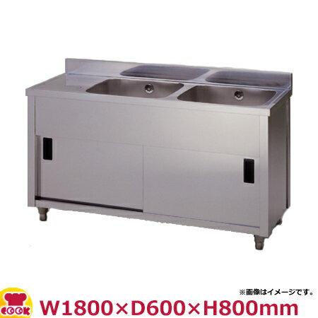 東製作所 二槽水切キャビネットシンク APM2-1800H-L・APM2-1800H-R W1800×D600×H800(送料無料、代引不可):厨房道具・卓上用品shop cookcook
