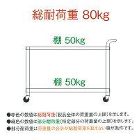 シンコーワゴンM20-9060ベタ棚/ガード付2段W900×D600×H800
