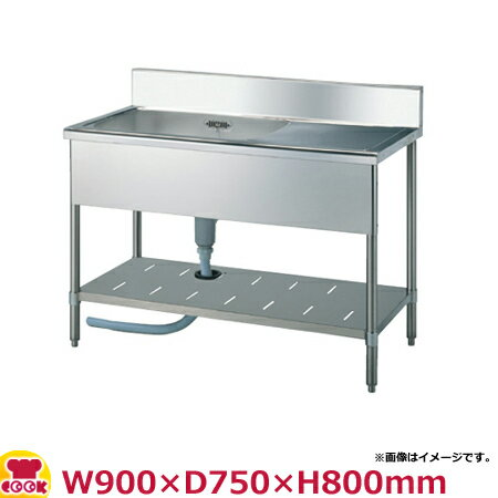 スギコ(SUGICO) 一槽水切り付シンク 750シリーズ SS-1SL-97・SS-1SR-97 W900×D750×H800(送料無料、代引不可):厨房道具・卓上用品shop cookcook