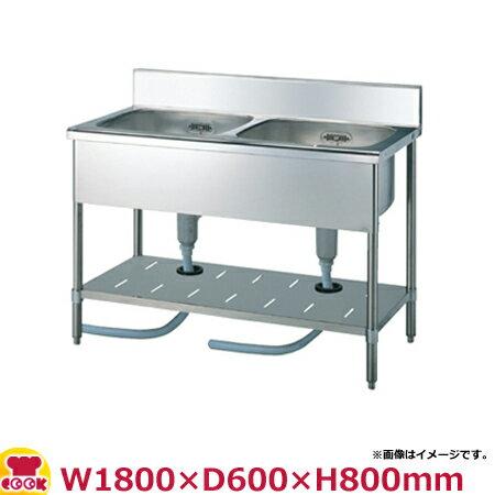 スギコ(SUGICO) 二槽シンク 600シリーズ SS-2S-186 W1800×D600×H800(送料無料、代引不可):厨房道具・卓上用品shop cookcook