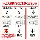 タチバナ製作所 二重コンロ(コンパクト) TS-218PS フルセット(種火付)(送料無料 代引不可) 3