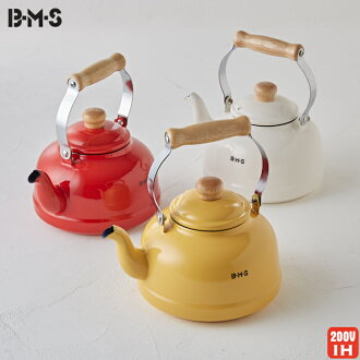 BMS (beams) backhoe (2) 3 L Kettle red ★ IH response / kitchen supplies and kitchen goods / kitchen gadgets and kitchen / red / enamel / ホーローケトル / enameled Kettle / Kettle / retro / 5P13oct13_b