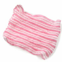 くーる&ほっと昔ながらのレーヨンあかすり袋タイプ5枚組(ピンク)