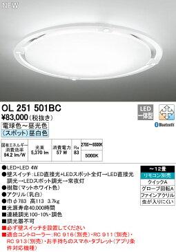 【最安値挑戦中!最大24倍】オーデリック OL251501BC シーリングライト LED一体型 調光・調色 〜12畳 リモコン別売 Bluetooth 昼白色LEDスポット [∀(^^)]