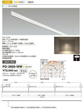 【最安値挑戦中!最大21倍】山田照明(YAMADA) PD-2669-WW アンビエント LED一体型 白色 PWM調光 連結用中間 受注生産品 [∽§]
