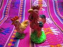 【恋愛・結婚祈願】エケコ人形用ミニチュア 小物 本場ボリビア産アラシータ用 雄鶏&雌鶏の商品画像
