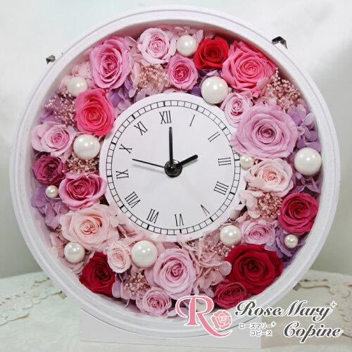 プリザーブドフラワー 時計 花時計 お祝い プレゼント フレーム 壁掛け 母の日 結婚祝い ギフト 出...