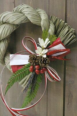 トラディッショナルなしめ縄飾り☆紅白の伝統的な注連飾り【注連】【バンバン年末年始】