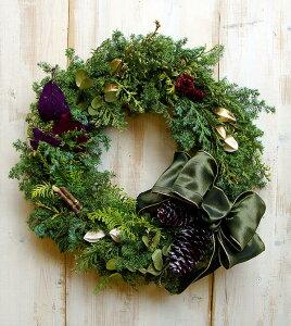 ナチュラルリース【リース】クリスマス、大人のクリスマス クリスマスリース【クリスマスリー...