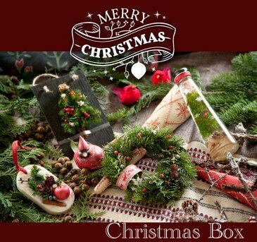 クリスマスボックス クリスマスギフト クリスマスセット クリスマスの人気商品4点詰め合わせ ハーバリウム フレッシュモミのミニリース アロマワックスバー 黒板カード 20セット限定