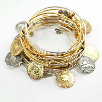 ALEX AND ANI アレックスアンドアニ recycled brass wire Bangle horoscope symbol alex &ani