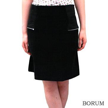 BORUM ボルムレディス コーデュロイタイトスカート 膝丈 シンプル BLACK 黒【正規品】【メール便不可】【40】