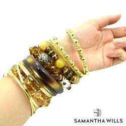 SAMANTHAWILLSサマンサ・ウィルスレディス17連バングル保存BOX付きブレスレットGOLDビーズ【無料ラッピング】【正規品】【メール便】【対応】