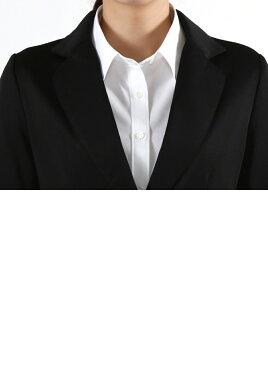 テーラードジャケット【全4色】(ブラウス白シャツ長袖ブラウスレディース無地オフィス長袖シャツリクルート制服ブラウス)