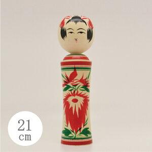 宮城県鳴子の伝統こけし。21cmサイズ。水木(みずき)でできて出来ており、木肌は色白でとても美...