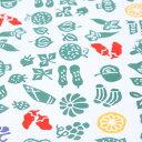 梨園染手ぬぐい 野菜と果物 【ネコポス可】手ぬぐい/てぬぐい/手拭い/和柄/メロン/スイカ/ぶどう/ ...