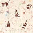 気音間 注染手ぬぐい さくら猫【メール便可】手拭い/手ぬぐい/てぬぐい/和柄/桜/猫/ネコ/動物/春【新生活】