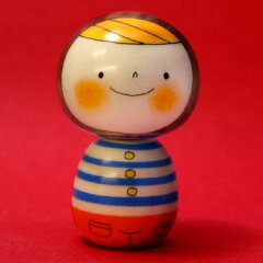 昭和25年から、群馬県で制作されている創作こけし(kokeshi)(japanese doll)(和雑貨)【1koff】卯...