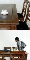 チーク・ダイニングセット【ラッフルス】5点アジアン家具CORIGGEMARKET