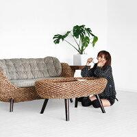 ウォーターヒヤシンスコーヒーテーブル【パール】(アジアン家具CORIGGEMARKET)