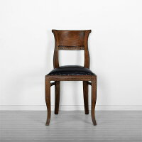 送料無料アジアン家具チェア椅子ダイニングチェアアンティークイスダイニング木製食卓いすおしゃれアジアン家具バリ家具リゾートホテルラタンウォーターヒヤシンスチークレザーチーク【イタリー】ノーアームチェア