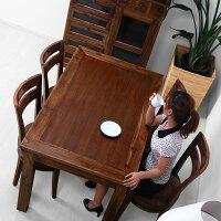 チーク【サクラ】ダイニング5点セット木製無垢ダイニングセットテーブルアジアン家具