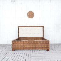 送料無料【レペンス】ベッド(セミダブル)フレームのみ(直輸入,北欧家具,木製家具,アジアン家具,雑貨)
